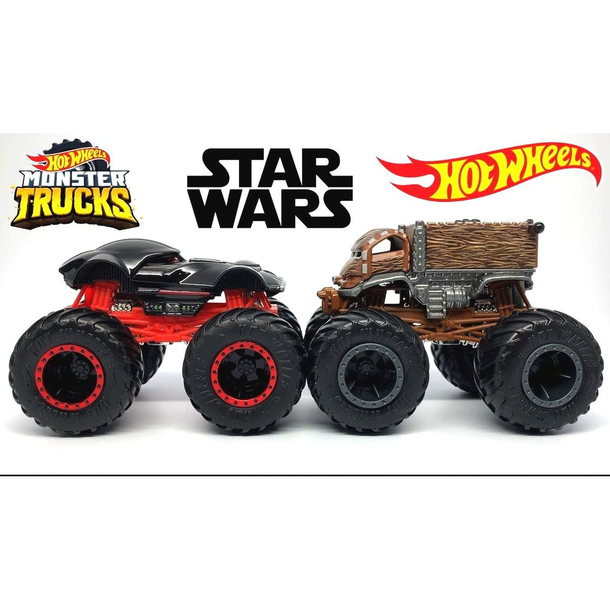 Mattel Hot Wheels Monster trucks demoliční duo Darth Vader a Chewbacca