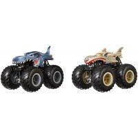Mattel Hot Wheels Monster trucks demoliční duo Mega-Wrex VS Leopard Shark FYJ65