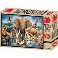 Prime 3D Puzzle Africká oáza 500 dílků