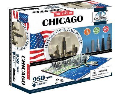 4D Cityscape Puzzle Chicago