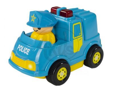 ABC Veselé autíčko s figurkou - Policejní modré