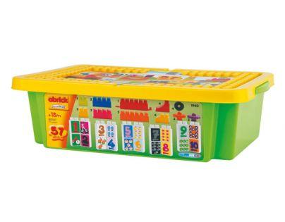 Abrick kostky Učení čísel box 57 dílů