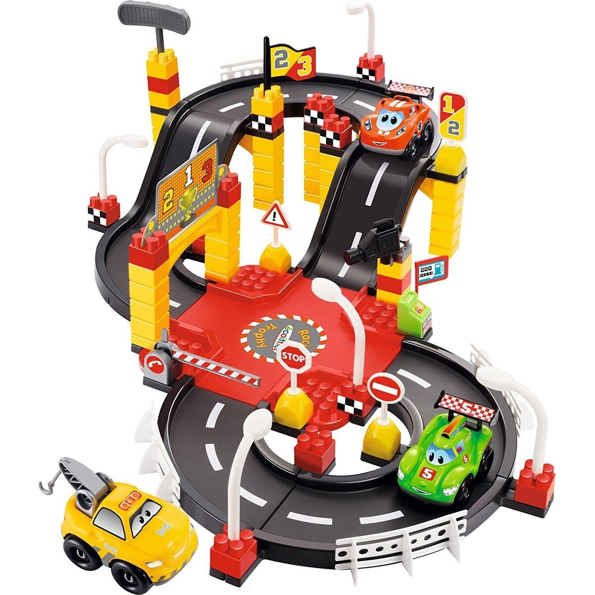 Ecoiffier 3037 Rýchle autá Abrick Pretekárska autodráha s 3 autíčkami