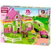 Abrick 3092 Koňské stáje růžové 75ks 2