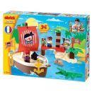 Abrick 3179 Pirátská loď s ostrovem 34ks 2