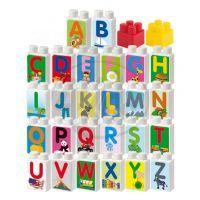 Abrick kostky abeceda s obrázky 30ks 2