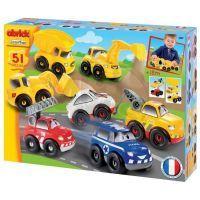 Abrick 3239 Rychlá auta Série 7 druhů autíček 51 ks