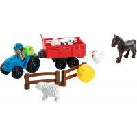 Abrick 3246 Traktor s přívěsem a zvířaty 2