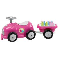 Abrick 7749 Maxi Odrážedlo růžové s vozíkem a kostkami - Poškozený obal
