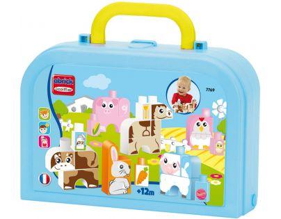 Abrick 7769 Maxi Kostičky zvířátka v kufříku