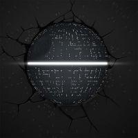 ADC Black Fire 3D světlo na stěnu Star Wars Hvězda smrti 3
