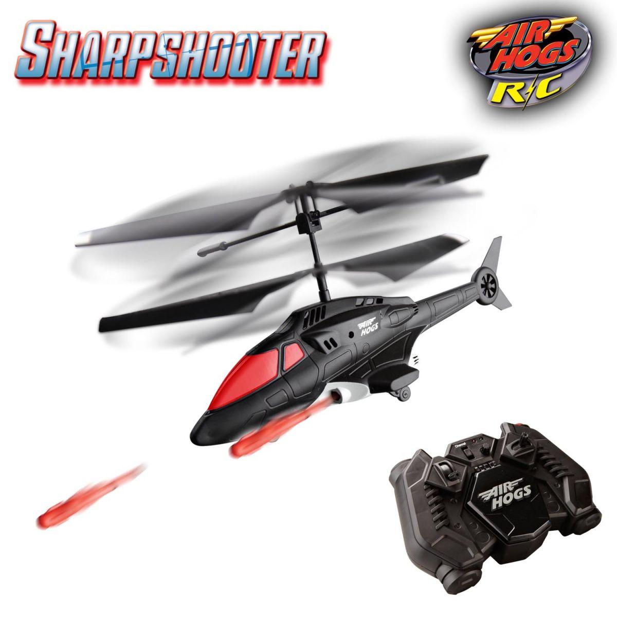 Air Hogs RC vrtulník s výstřely - Červená