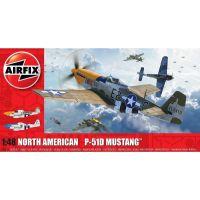Airfix Classic Kit letadlo North American P-51D Mustang Filletless Tails 1:48