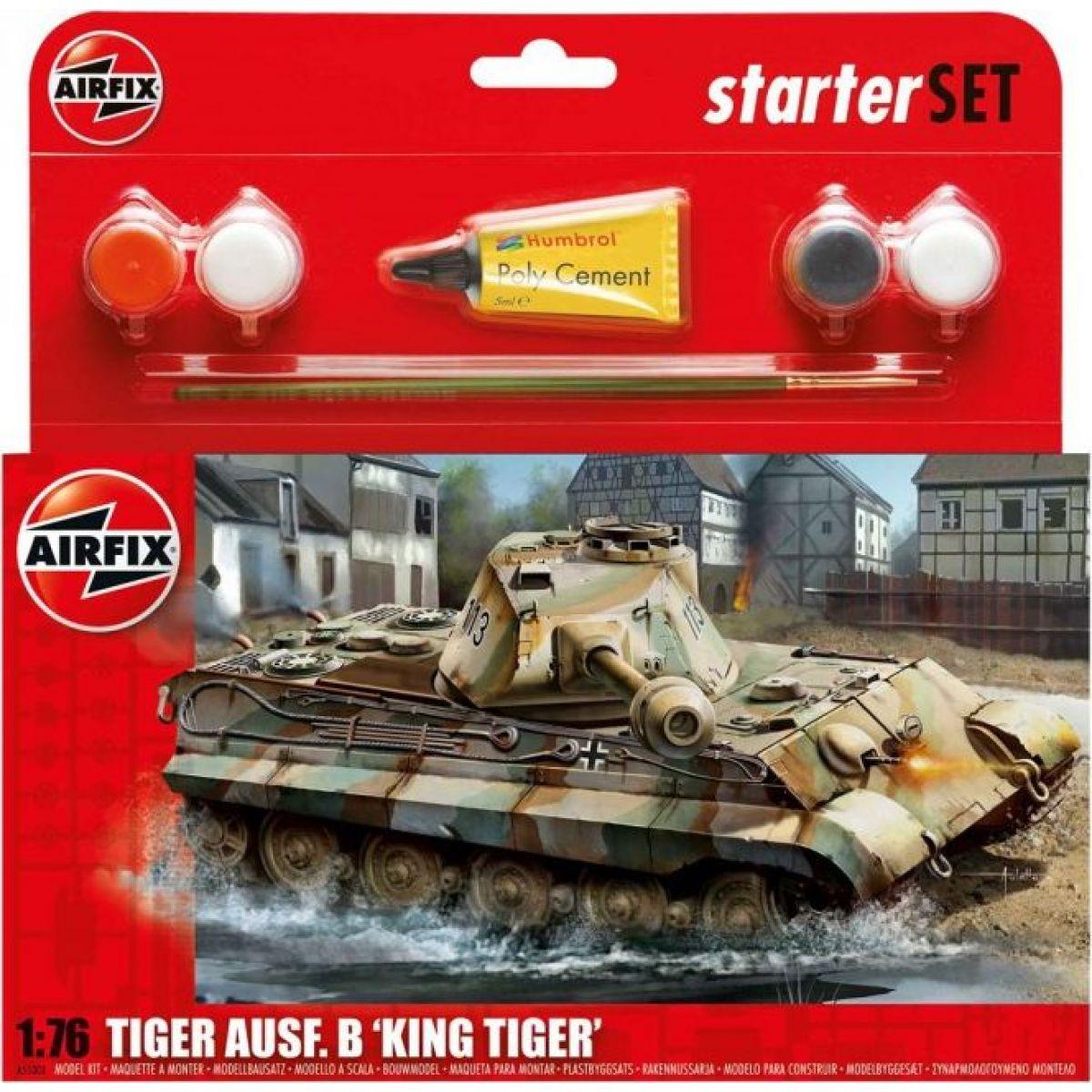 Airfix Starter Set tank King Tiger Tank 1:76