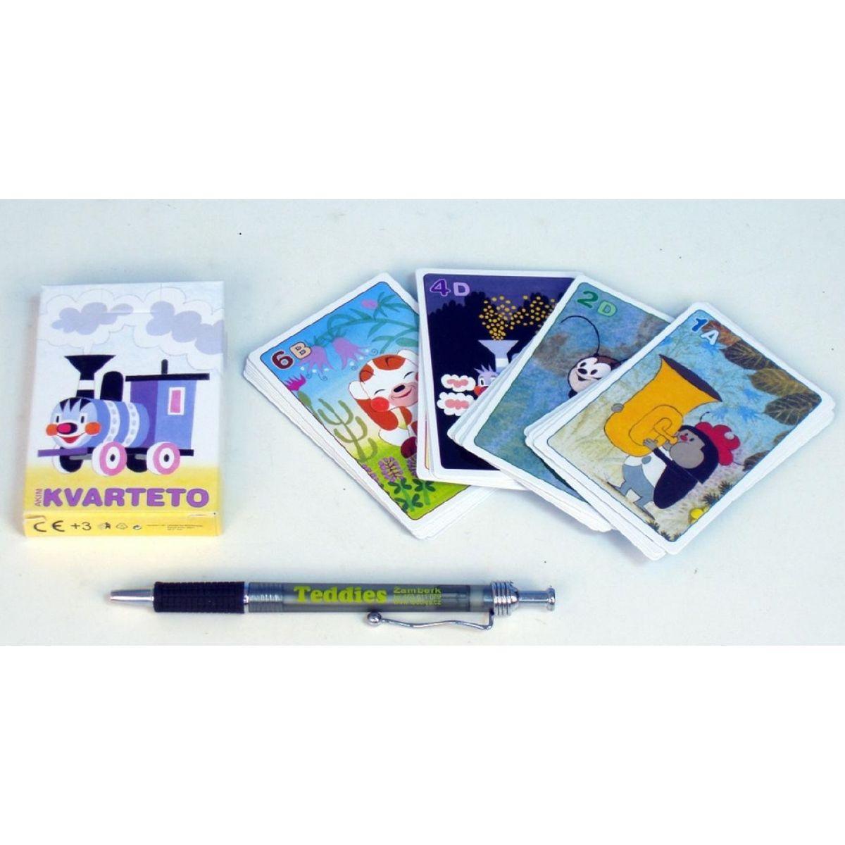 AKIM 703877 - Kvarteto Mašinka společenská hra - karty v papírové krabičce