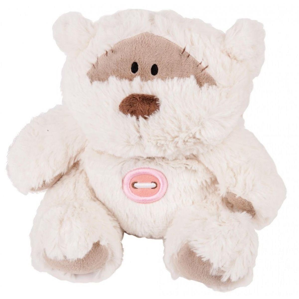 Albi Hřejivá plyšová zvířátka - Medvídek s knoflíkem 30 cm