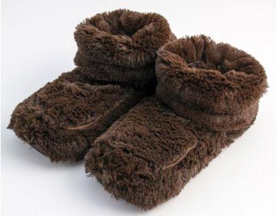 Albi Hřejivé botičky - Hnědé