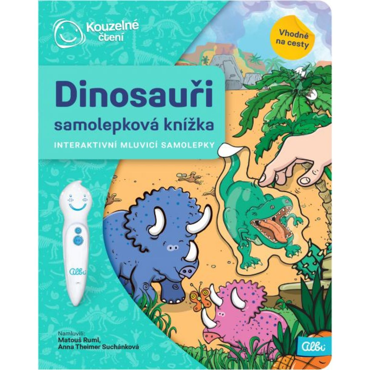 Albi Kouzelné čtení Samolepková knížka Dinosauři