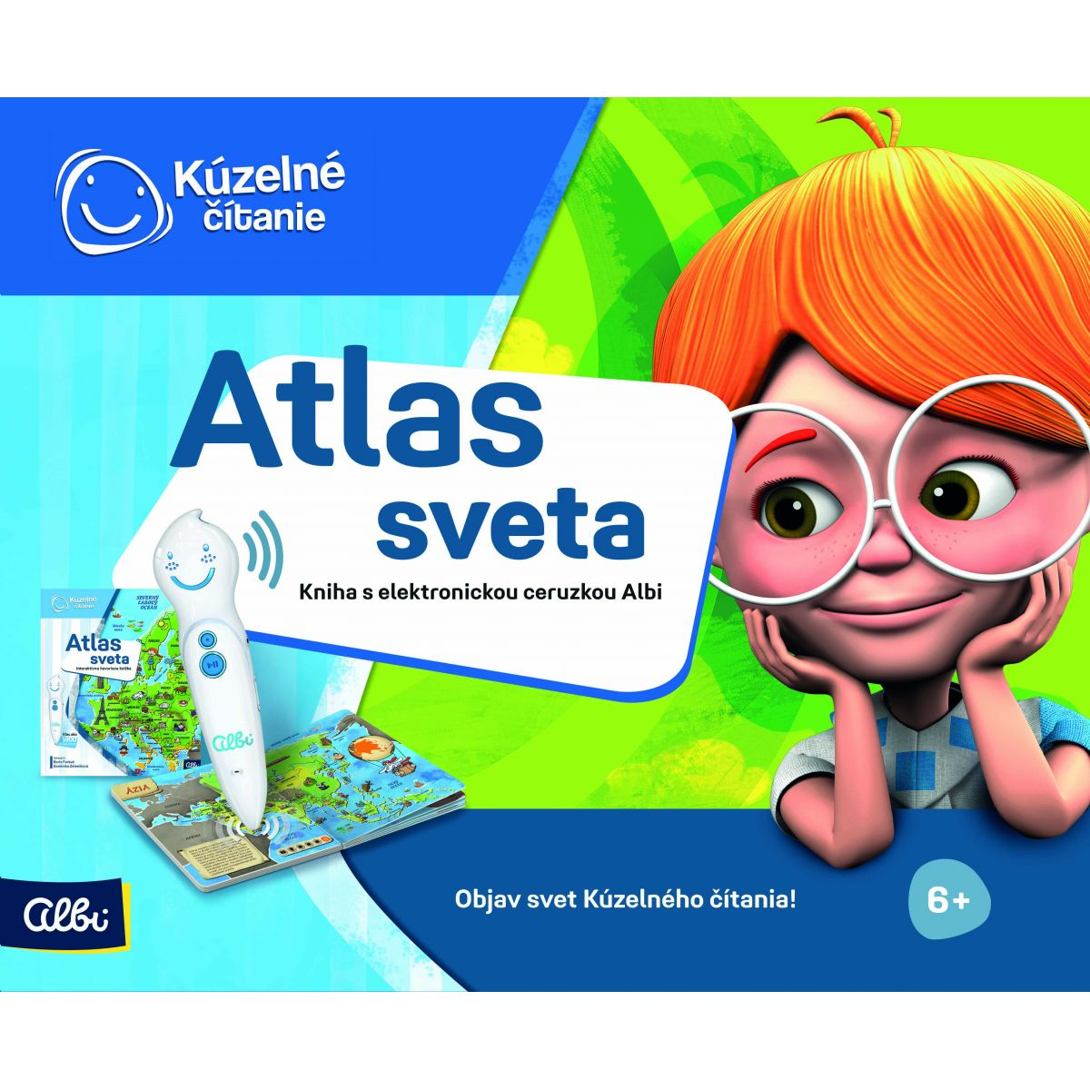 Albi Kúzelné čítanie Albi tužka a Atlas sveta SK