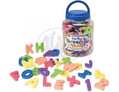 Alex Pěnové číslice a písmena do vany v kbelíku 62ks