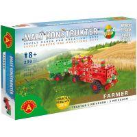 Alexander Malý konstruktér Farmer Traktor s přívěsem