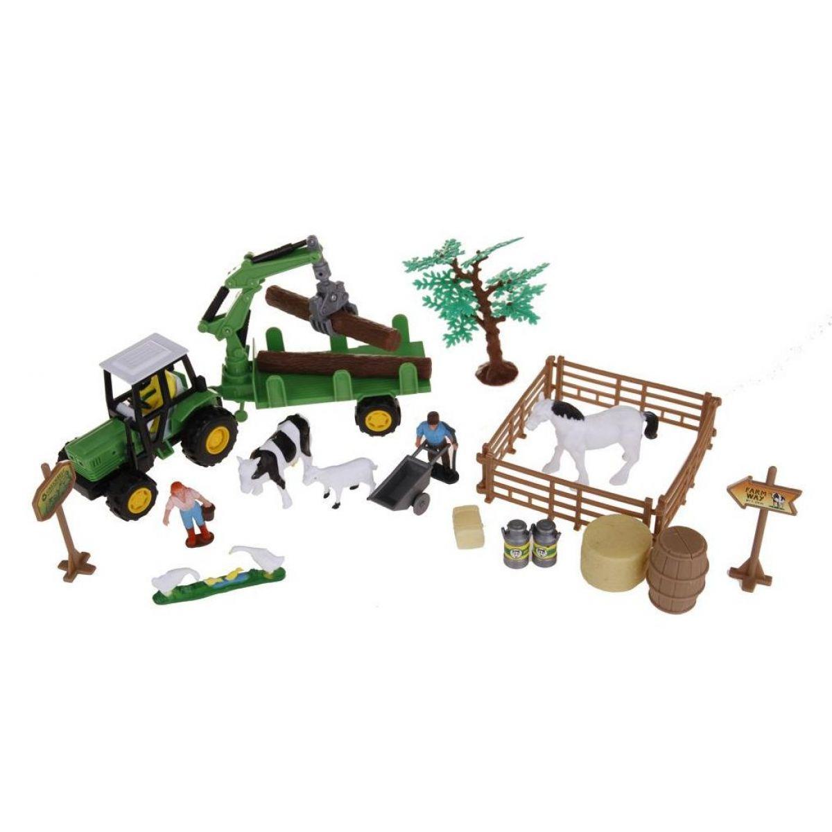 Alltoys Farmářský set v kufříku valník na dřevo