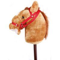 Alltoys Koňská hlava na tyči s uzdou - Světle hnědá 2