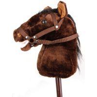 Alltoys Koňská hlava na tyči s uzdou - Tmavě hnědá 2