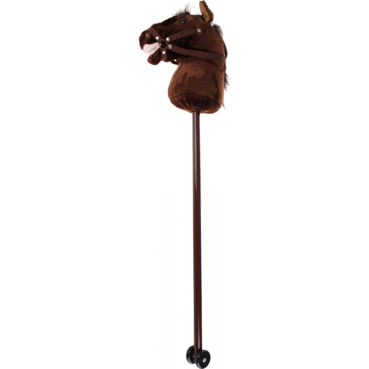 Alltoys Koňská hlava na tyči s uzdou - Tmavě hnědá