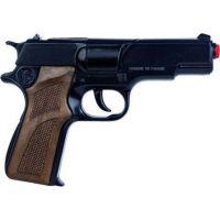 Alltoys Policejní pistole černá kovová 8 ran