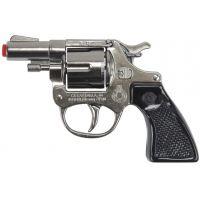 Alltoys Policejní revolver kovový stříbrný kovový 8 ran