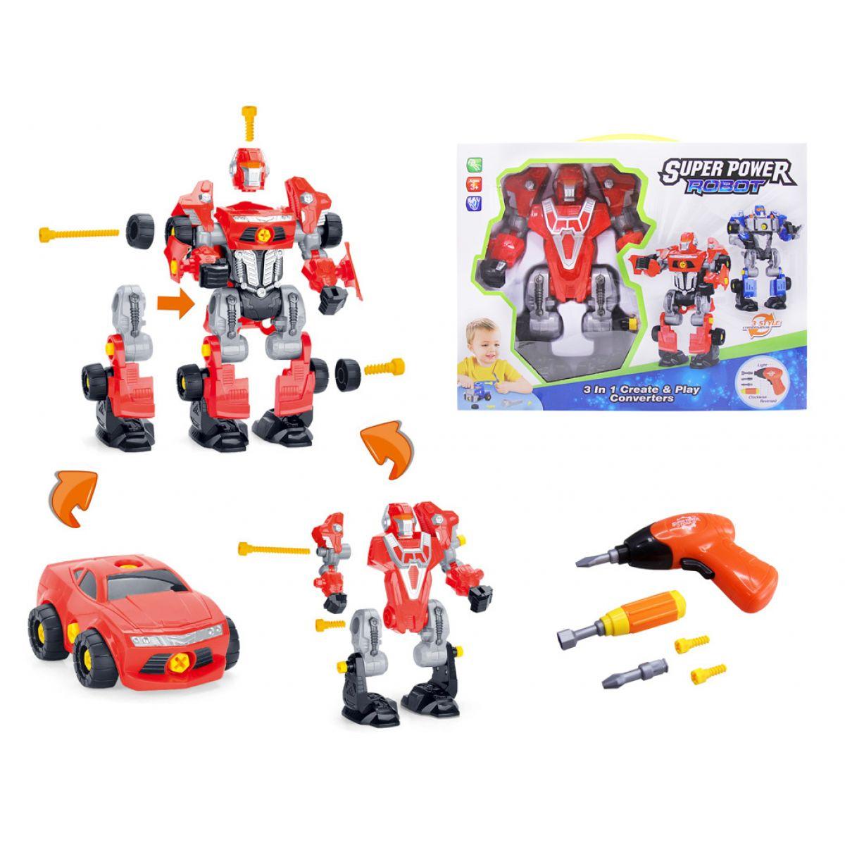 Alltoys Šroubovací robot s vrtačkou se světlem Červený