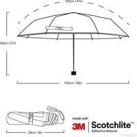 Altima Reflexní deštník černý 2