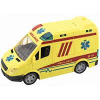 Ambulance 20 cm se zvukem se světlem žlutá