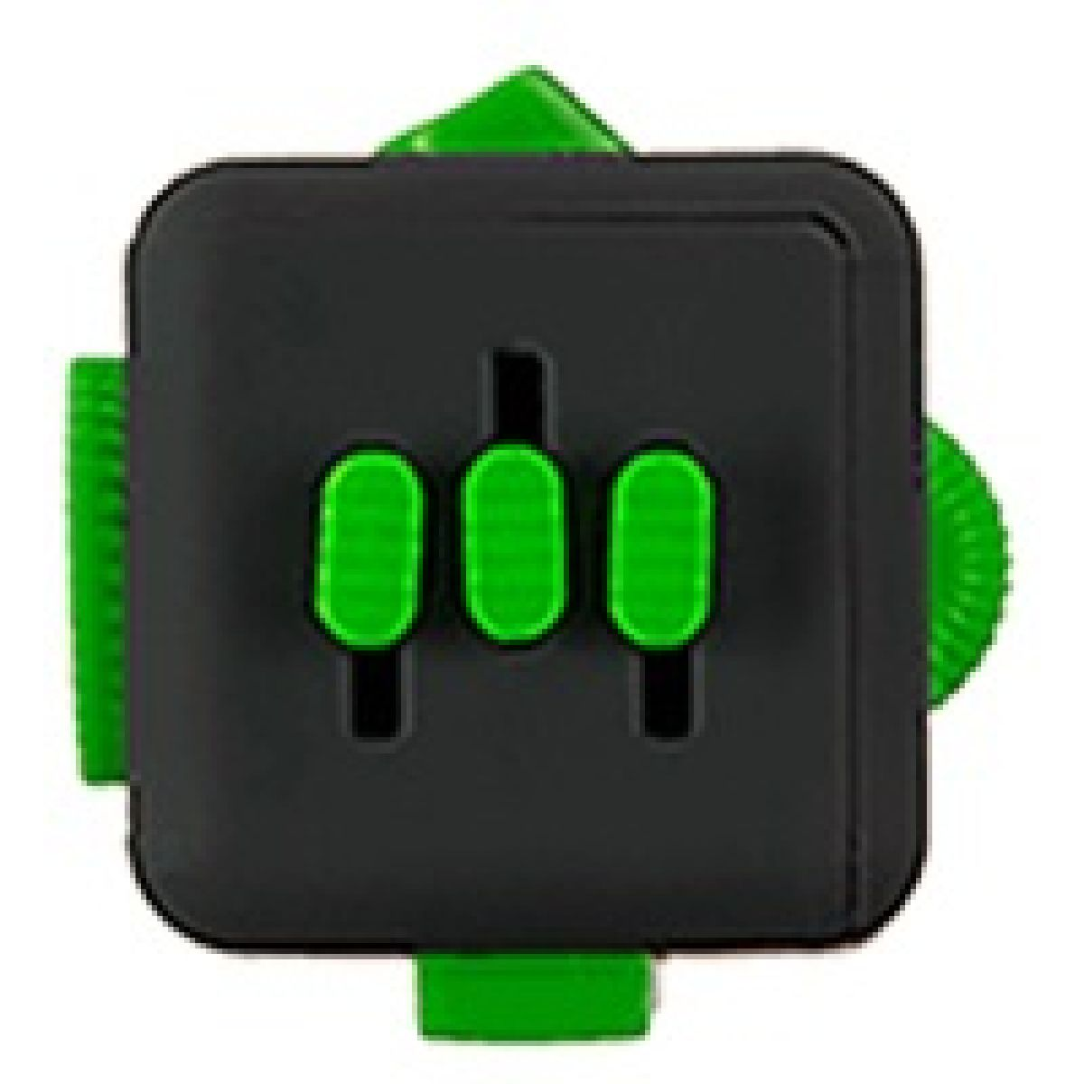 Antistresová kostička Fingr antracit zelená