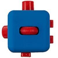 Antistresová kostička Fingr modrá červená