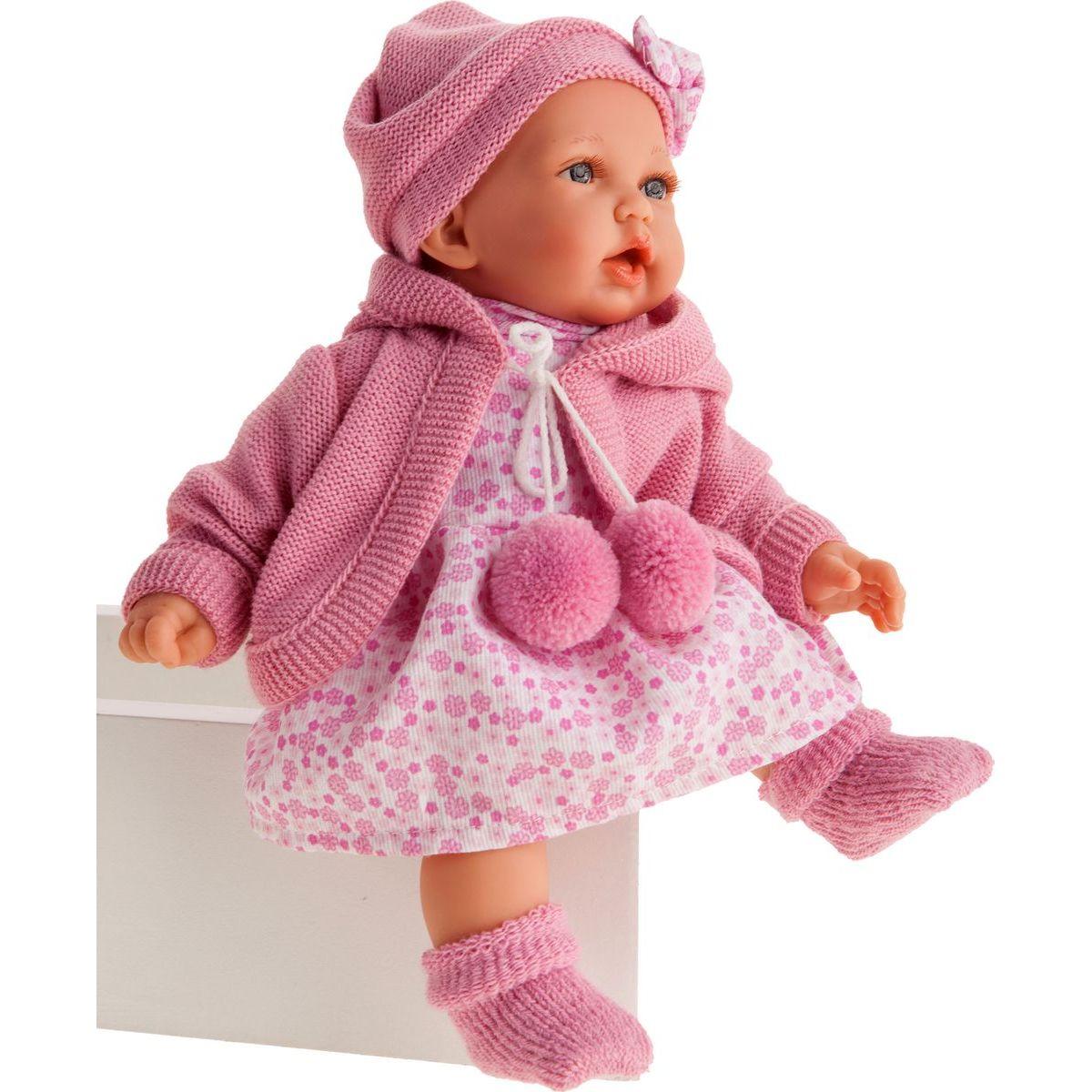Antonio Juan 1222 Petit realistická panenka se zvuky a měkkým látkovým tělem 27 cm