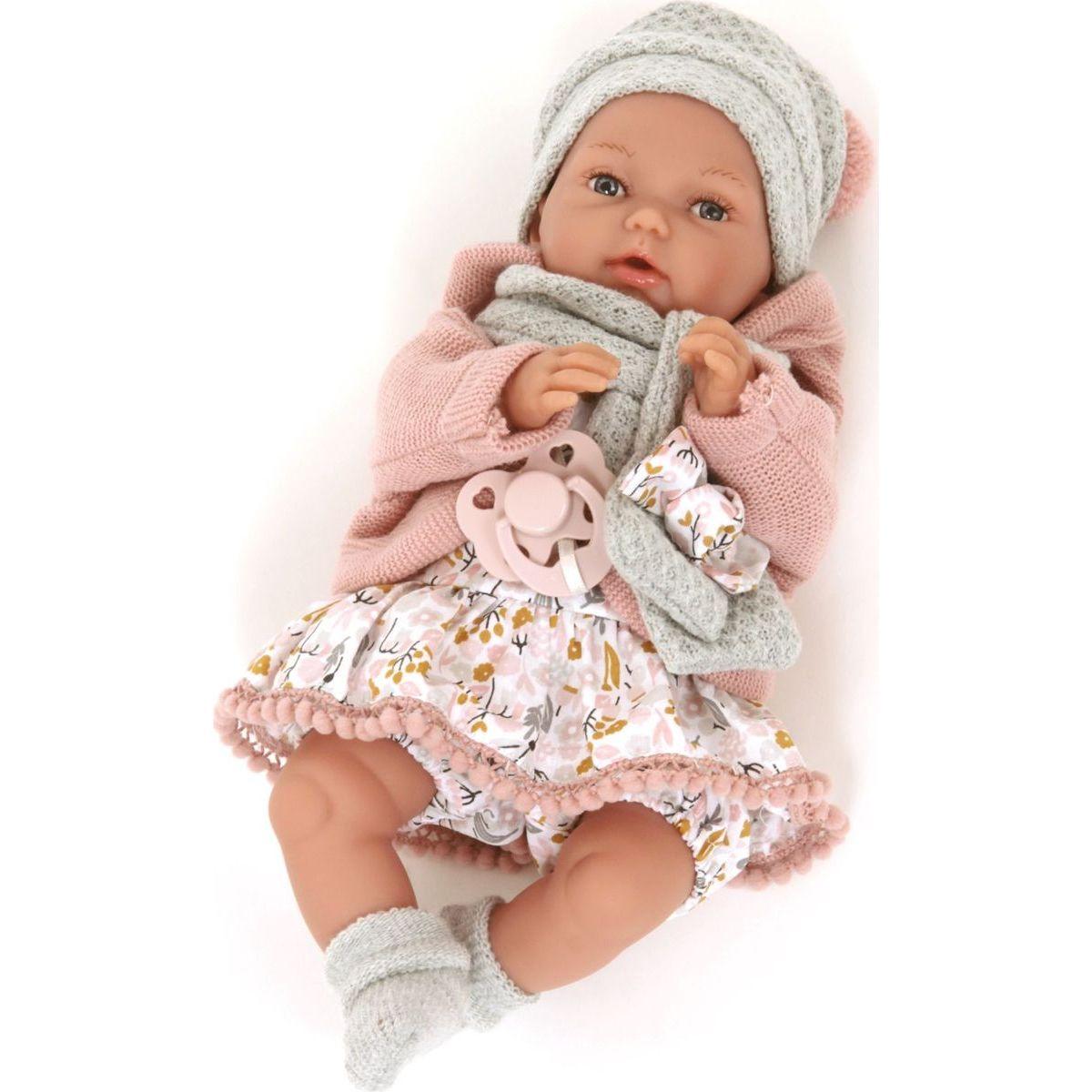 Antonio Juan 17194 Peke realistická panenka Miminko se speciální pohybovou funkcí a měkkým látkovým tělem 29 cm
