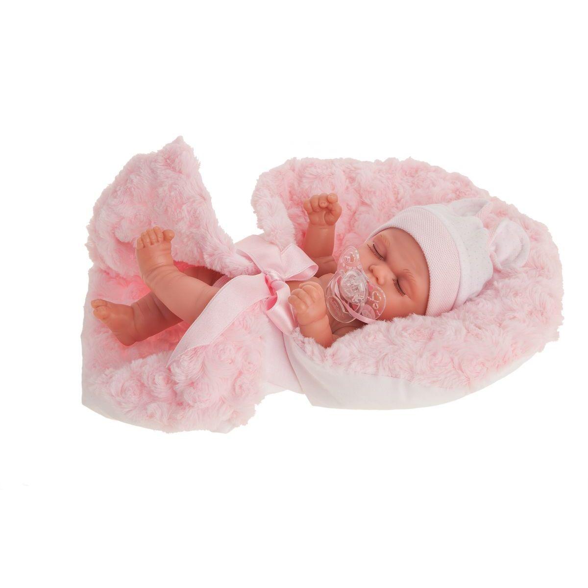 Antonio Juan Luni spící realistická panenka miminko s celovinylovým tělem 26 cm