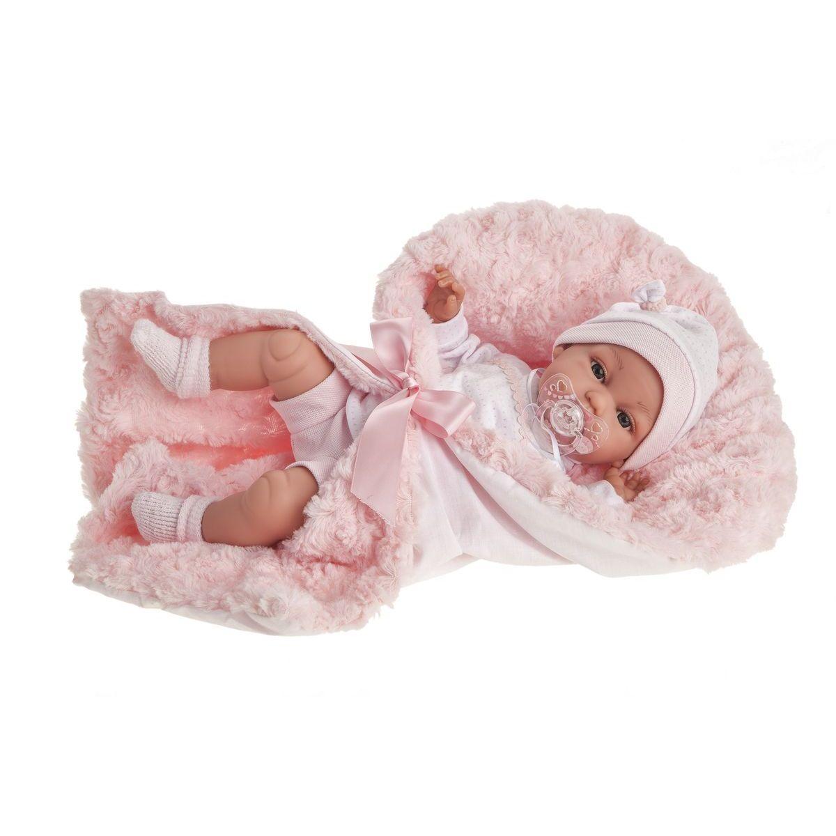 Antonio Juan 7030 Toneta realistická panenka miminko se zvuky a měkkým látkovým tělíčkem 34 cm