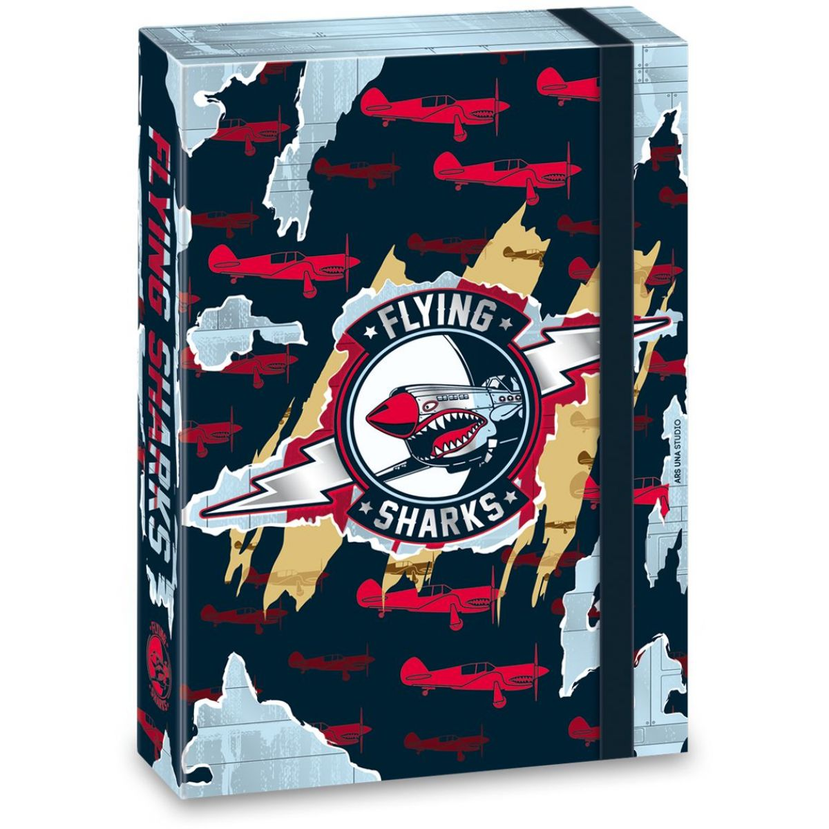 Ars Una Box na sešity Flying Sharks A4