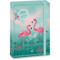 Ars Una Box na sešity Pink Flamingo A4