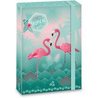Ars Una Box na sešity Pink Flamingo A5