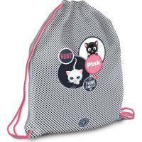 Ars Una Sáček na přezůvky Think Pink kočky