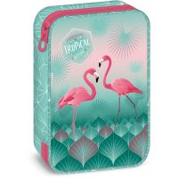 Ars Una Školní penál Pink Flamingo