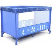 Asalvo Cestovní postýlka Basic giraffes blue