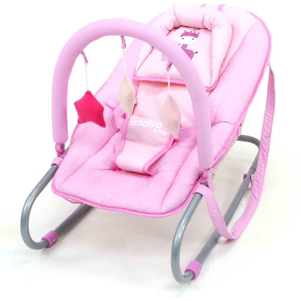 Asalvo Křesílko Baby giraffes pink