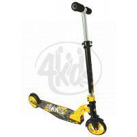 Authentic Sports Koloběžka skládací černo-žlutá 145 mm - Poškozený obal