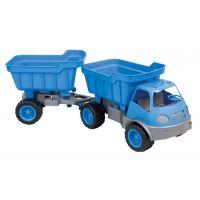 Mochtoys Auto Activ s přívěsem na gumových kolech - Modrá