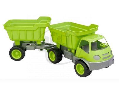 Mochtoys Auto Activ s přívěsem na gumových kolech - Zelená